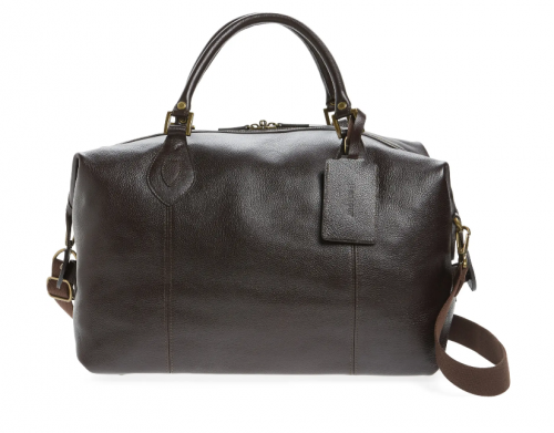 Barbour Leather Duffle Travel Bag