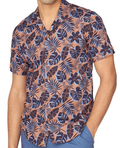 Ben Sherman Short Sleeve Botanical Print Shirt