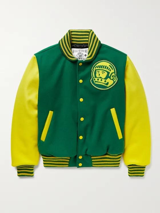 Billionaire Boys Club yellow and green bomber jacket