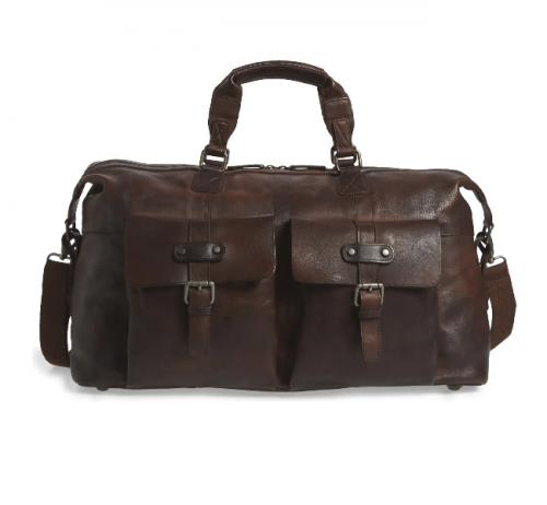 Bosca Vintage Leather Duffle Bag