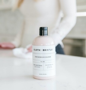 cloth + bristle cleaner, eco-friendly cleaning products