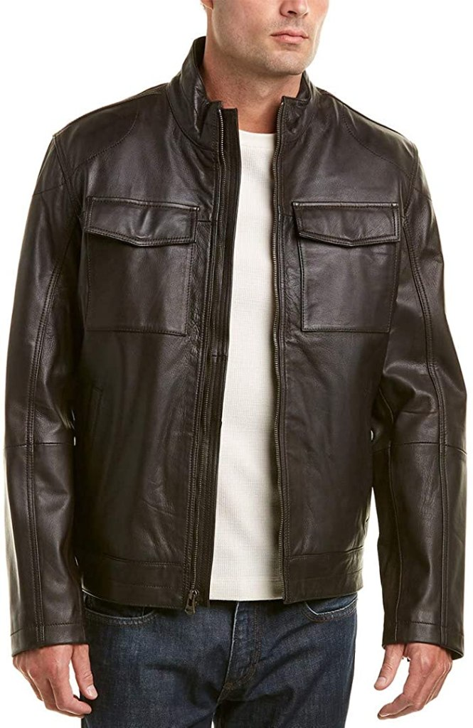 Cole-Haan-Washed-Leather-Trucker-Jacket