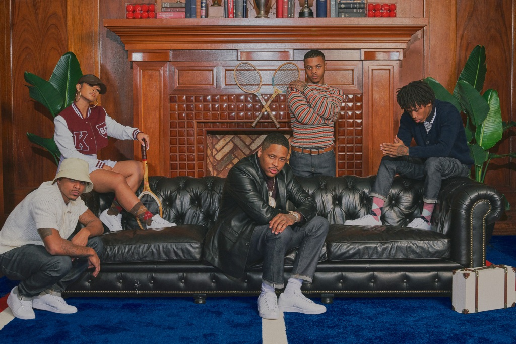 Mitch, Day Sulan, YG, Tay2xs, and d3szn wearing K-Swiss Classic LX Sneaker Compton Country Club Campaign