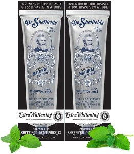 Dr. Sheffield's natural toothpaste