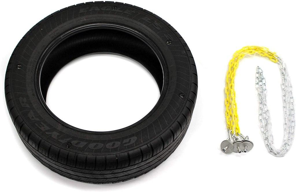 Eastern Jungle Gym Heavy-Duty 3-Chain Rubber Tire Swing Seat