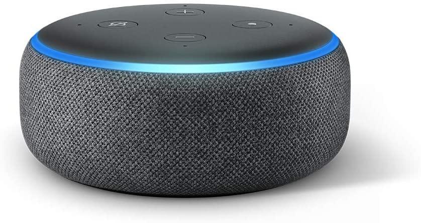 Amazon Echo Dot Smart Speaker, 3rd Generation Charcoal
