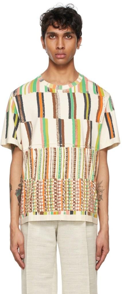 Eckhaus Latta Off-White Striped Shirt