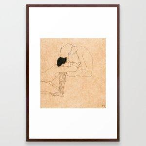 egon schiele lovers framed