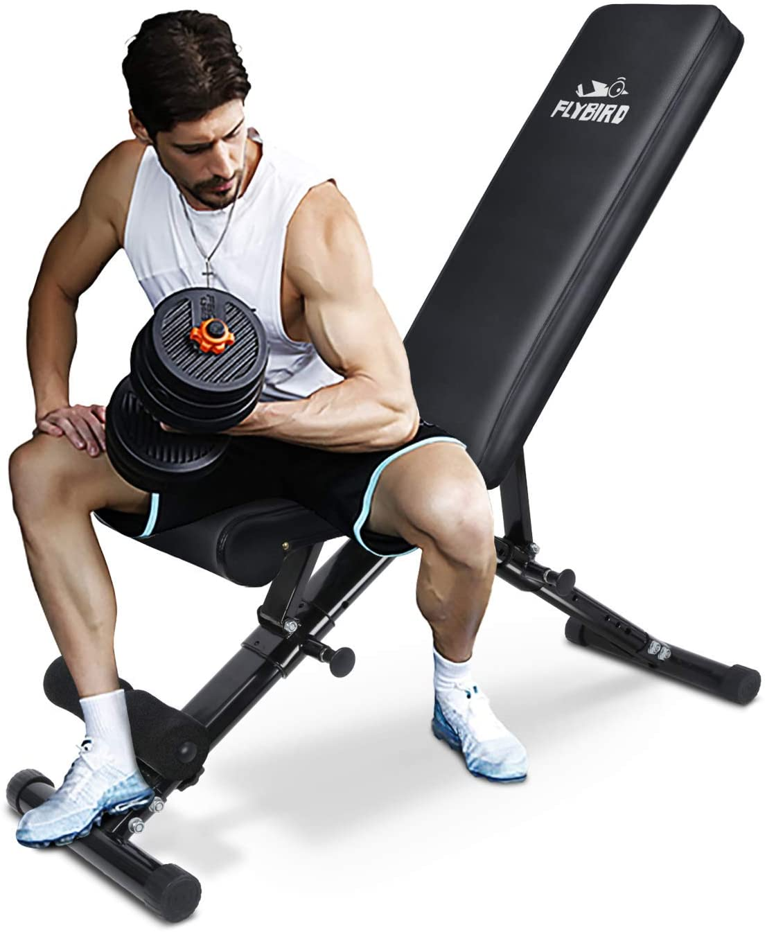 FLYBIRD adjustable weight bench, best Amazon deals