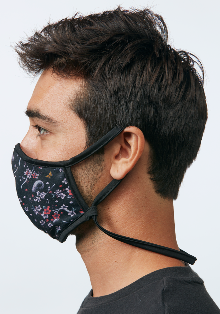 Nixon flipside face mask cherry blossom