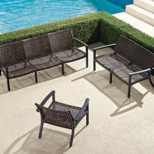 Frontgate aluminum sofa set, patio furniture sets