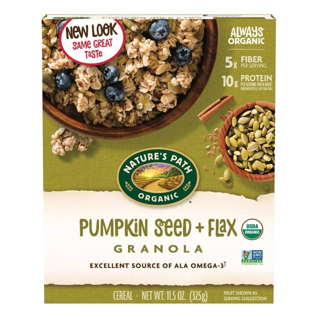 Nature's Path Pumpkin Seed + Flax Granola, Best Granola