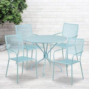 Sky blue gerardi 5-piece dining set, way day wayfair deals