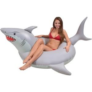GoFloats shark party tube, best pool floats