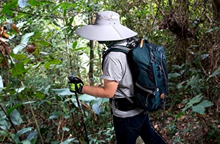 Person walks through forest in HLLMAN