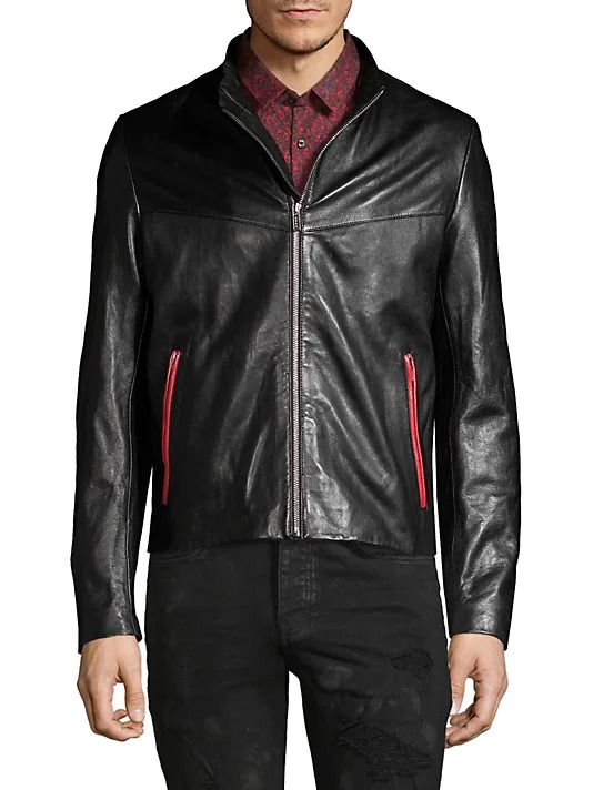 HUGO-Lyes-Leather-Jacket best leather jacket