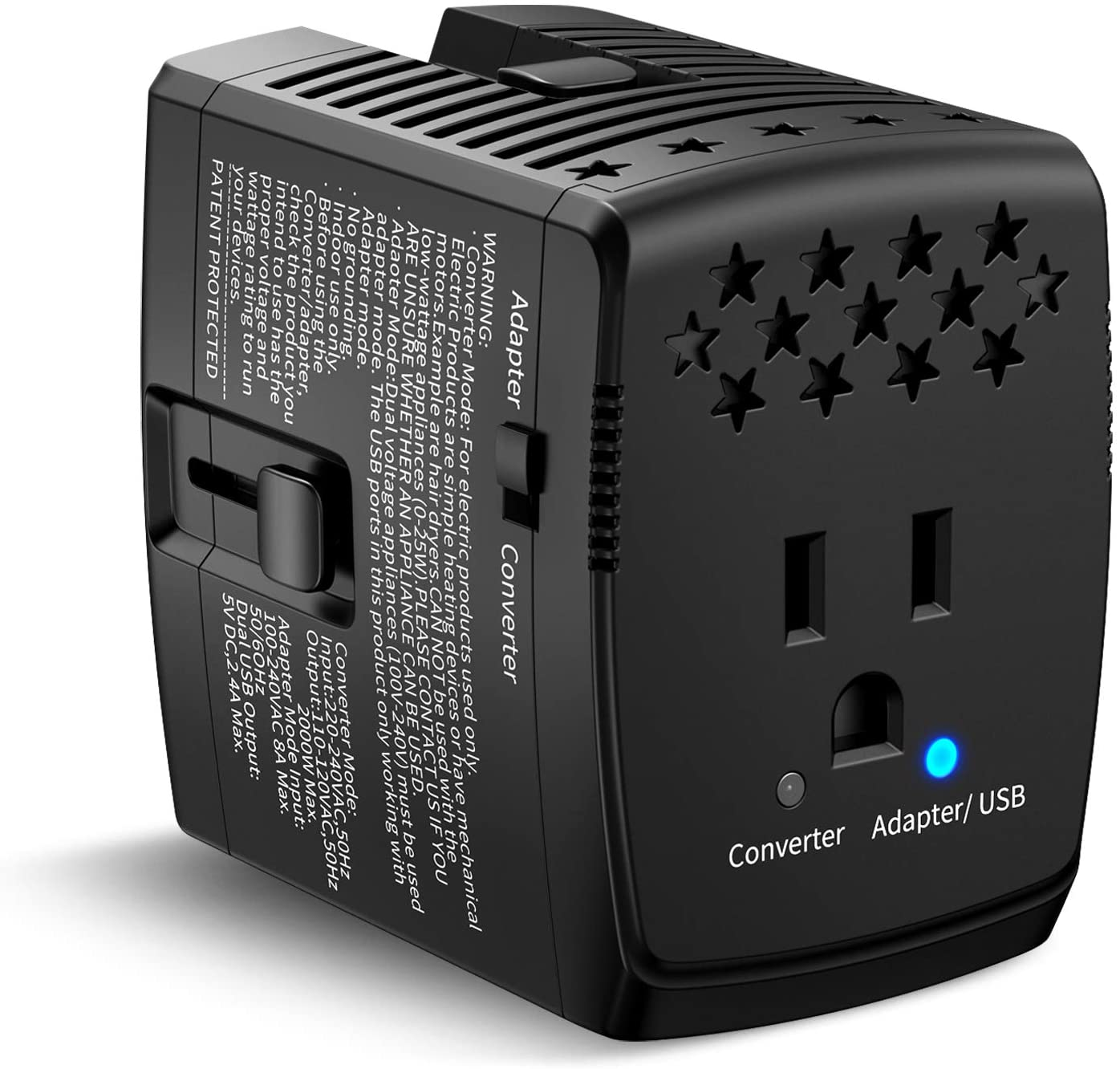 HYTED Travel Adapter and Converter Combo