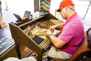 Authentic Cuban cigar roller at Nicahabana Cigars in Ybor City, Florida travel