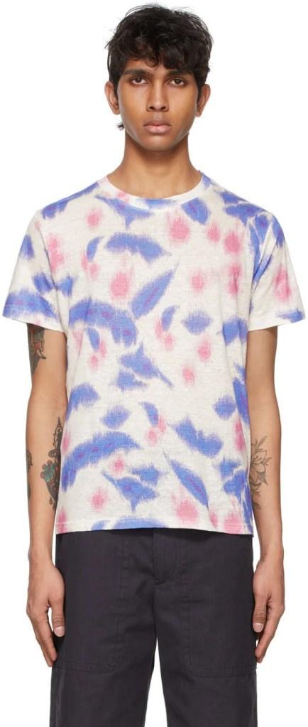 Isabel Marant White and Blue Camron T-Shirt