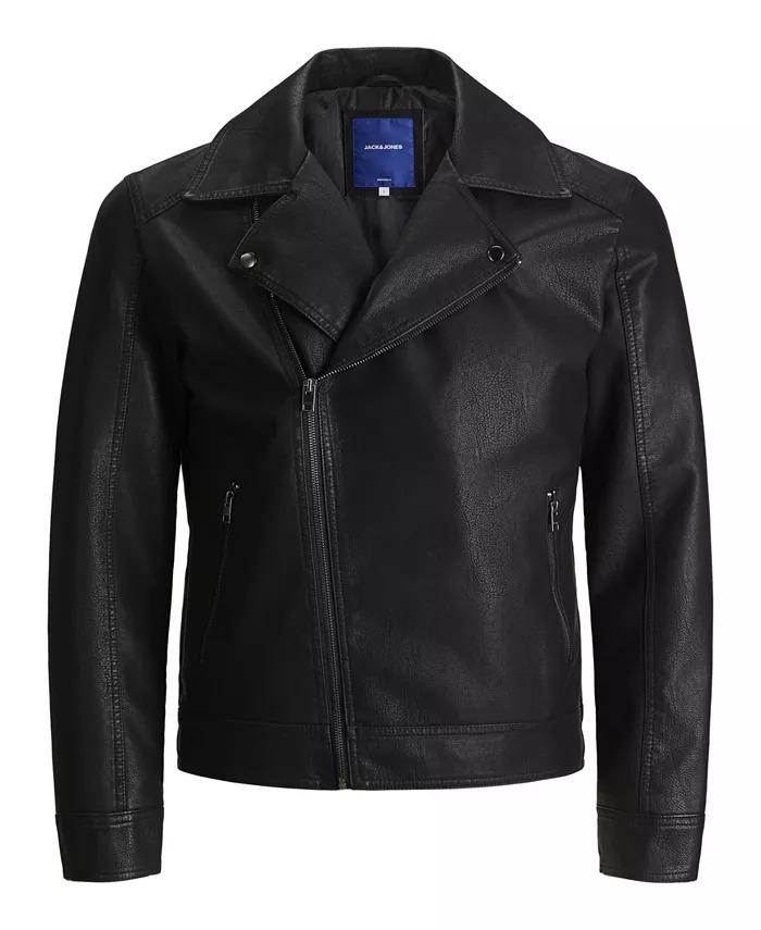 Jack-and-Jones-Nolan-Biker-Jacket Best leather jackets