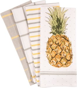 kaf home pantry pineapple kitchen towel
