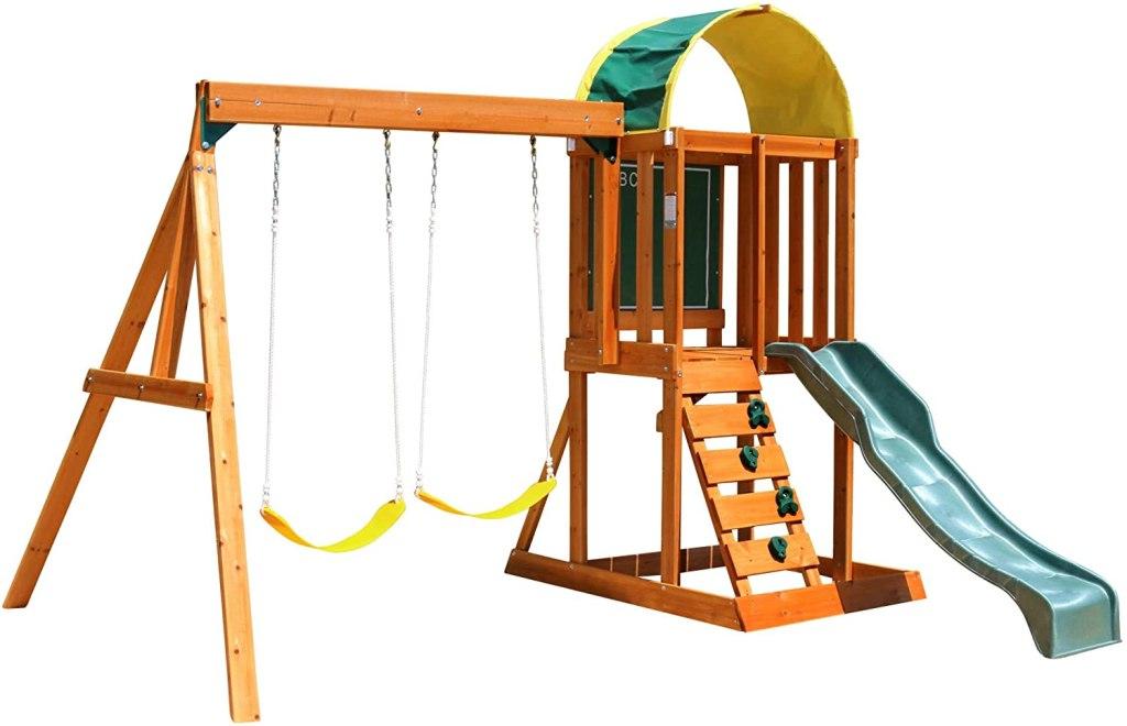 KidKraft Andorra Cedar Wood Swing Set, best outdoor playset