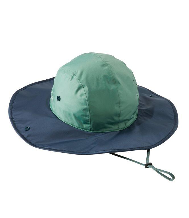 L.L. Bean Adults; Trail Model Rain Hat in blue and green