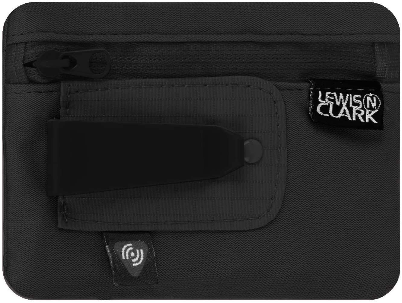 Lewis N. Clark RFID Hidden Clip Stash Travel Belt Wallet