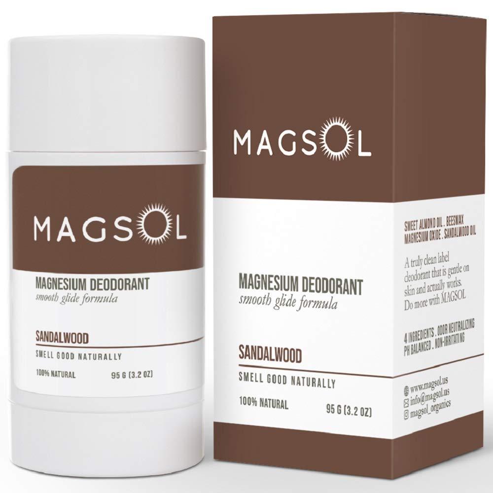 MagSol magnesium natural deodorant, best deodorant for sensitive skin