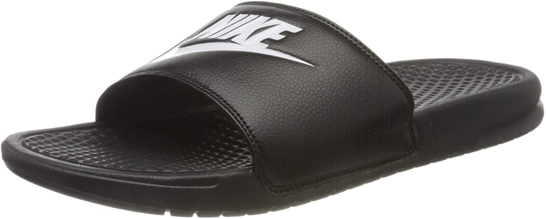 Nike Men's Benassi Solarsoft Slide Sandal in black