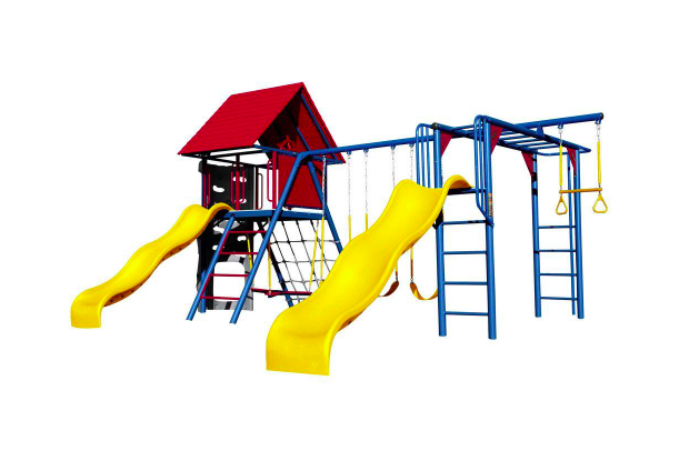 Double Slide Deluxe Primary Colors Swing Set from Lifetime