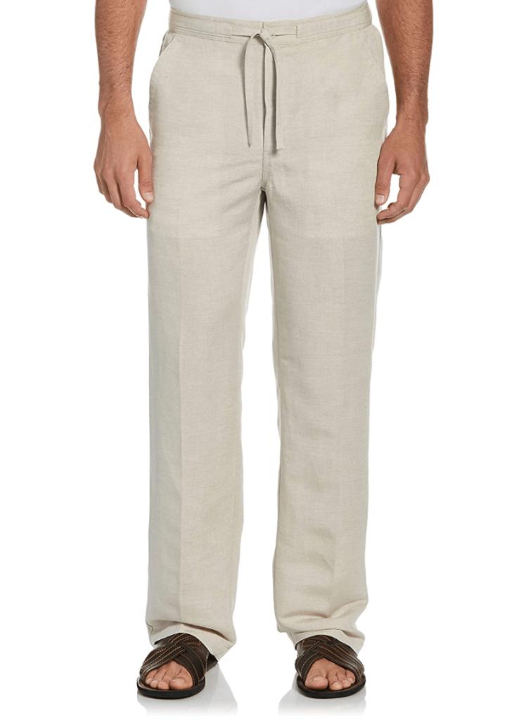 Cubavera Men's Drawstring Linen-Blend Pant