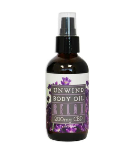 unwind cbd body oil
