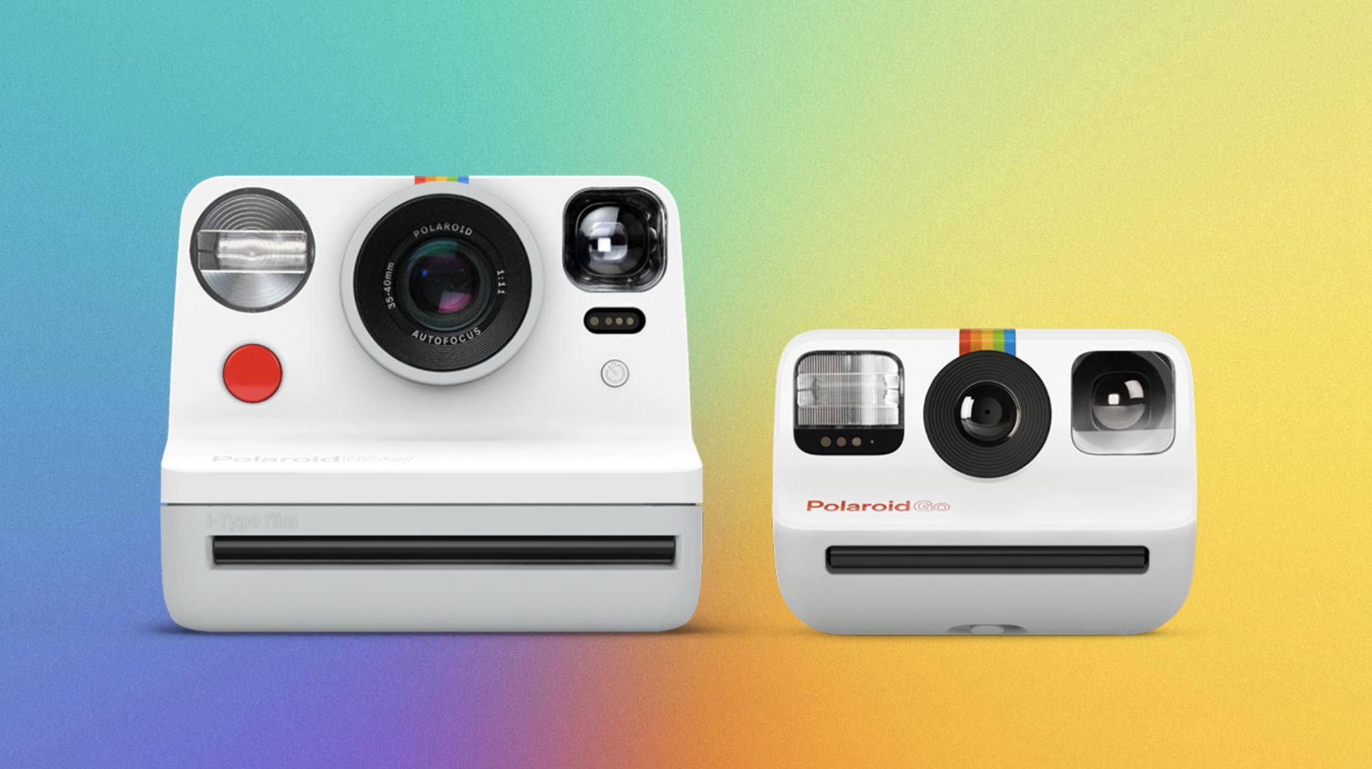 Polaroid next to Polaroid Go