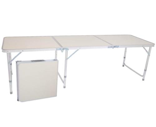 6. Binrrio Aluminum 6-Foot Folding Table