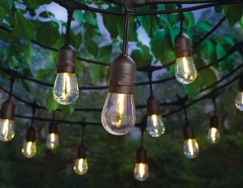 Hampton Bay 24-Light 48 ft. String Light with S14 Single Filament LED Bulbs