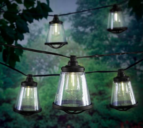 Hampton Bay 11 ft. Plug-In LED ST38 Vintage Bulb String Light with Seedy Cage