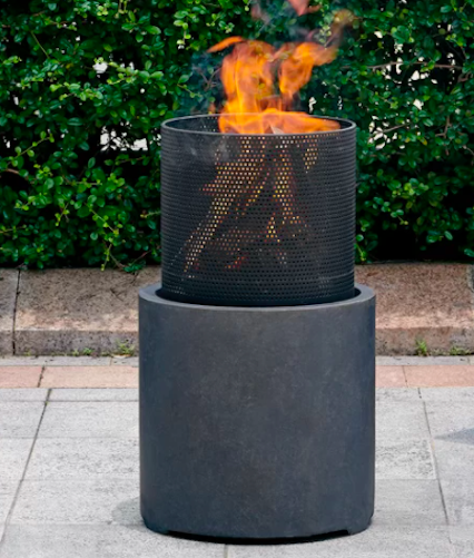 Delshire Polyresin Wood Burning Fire Pit