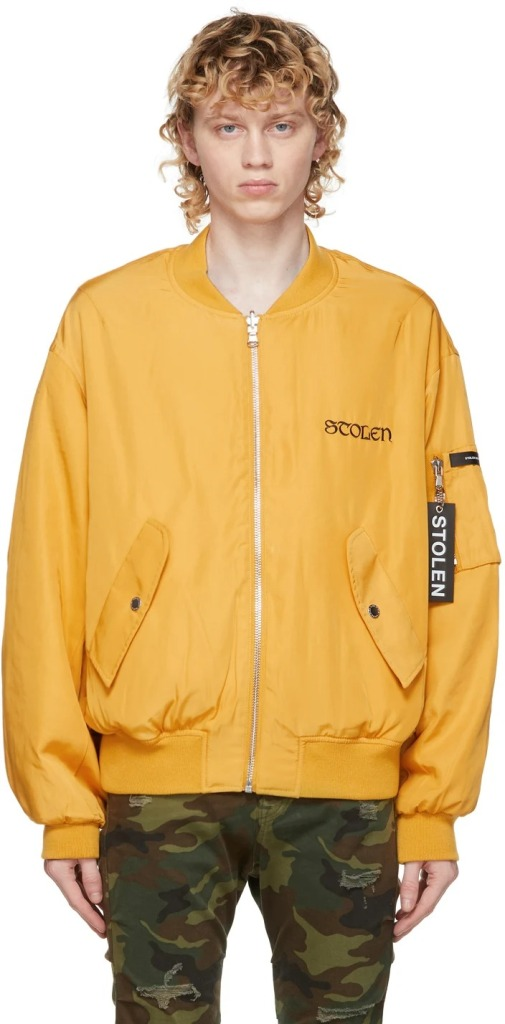Stolen-Girlfriends-Club-Reversible-Black-and-Yellow-Scorpion-Death-Bomber-Jacket