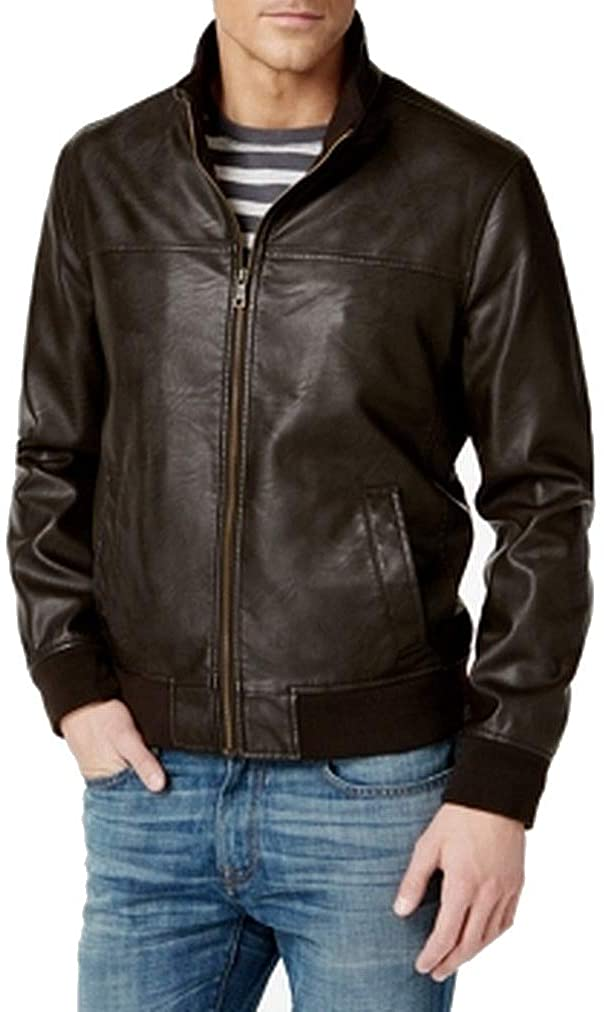 Tommy-Hilfiger-Smooth-Lamb-Faux-Leather-Bomber-Jacket best leather jackets