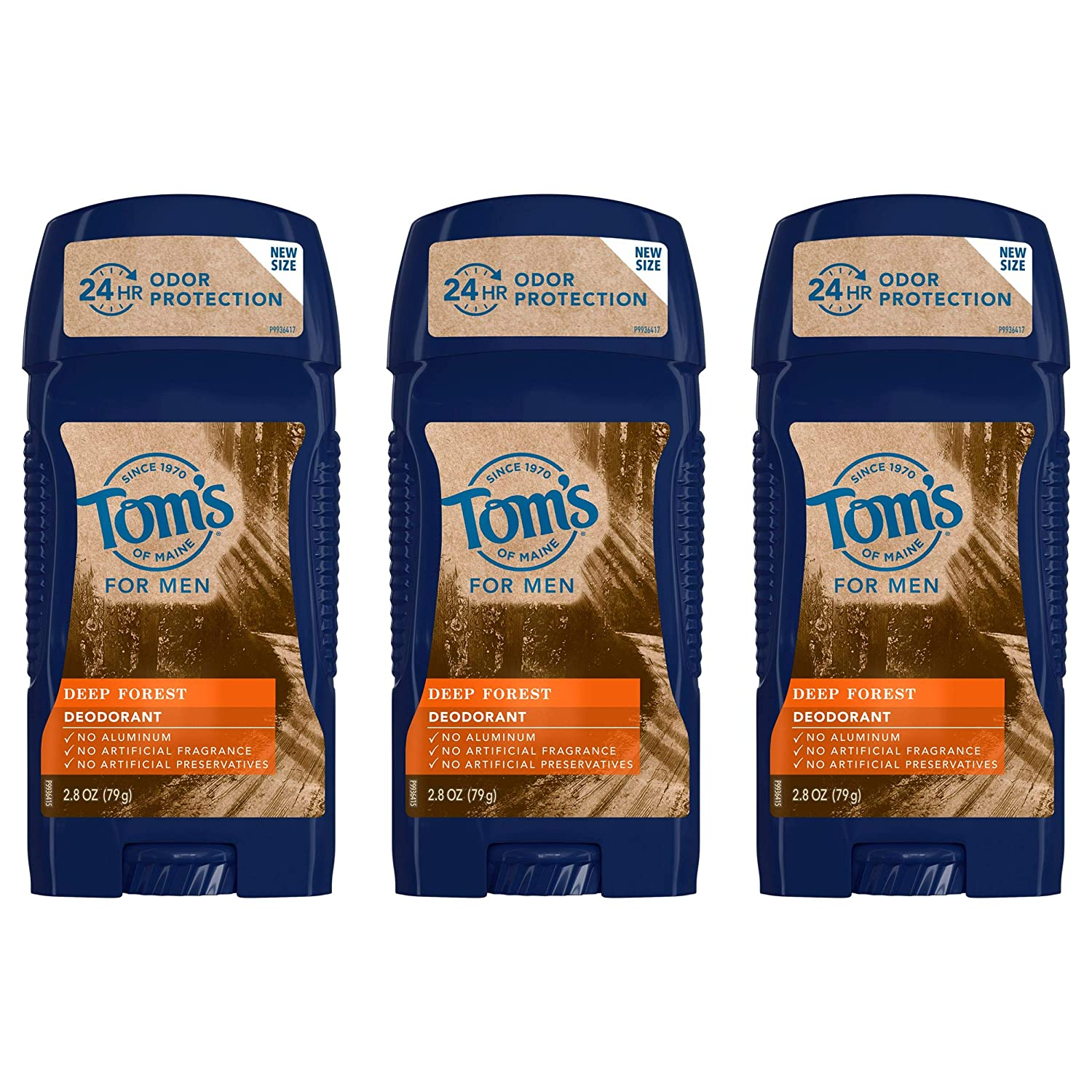 Tom's of Maine Natural Deodorant in deep forest scent, three pack