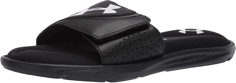 Under Armour Men's Ignite VI Slide Sandal in black, most comfortable flip flops