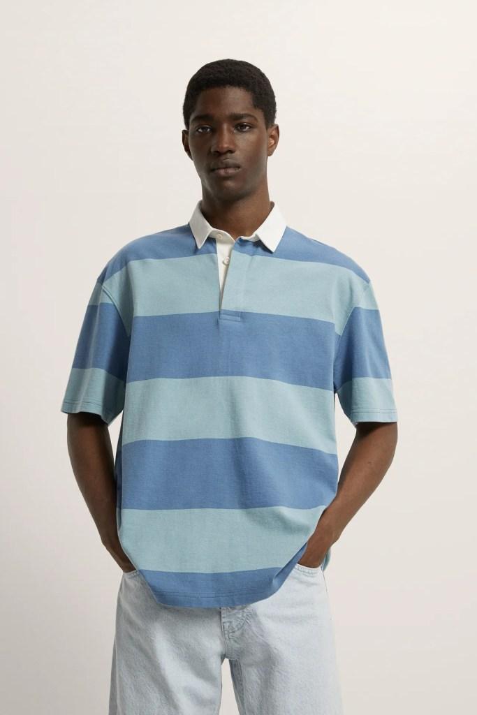 Zara Striped Polo Shirt