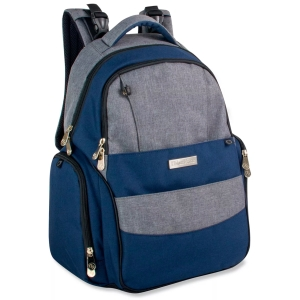 Fisher-Price Skye Heather Denim Backpack Diaper Bag for dads