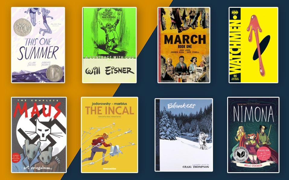 covers of the best graphic novels