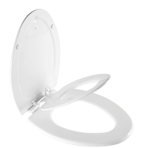 Two-in-one adult and toddler toilet seat