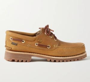 best boat shoes - Timberland + Aimé Leon Dore 3-Eye Lug Nubuck Boat Shoes