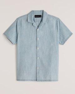 Abercrombie Short-Sleeve Camp Collar Shirt