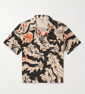 Our Legacy Camp-Collar Printed Linen Shirt
