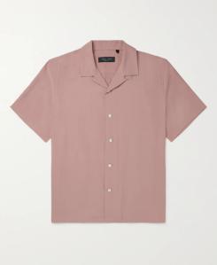Rag & Bone Avery Camp-Collar Voile Shirt